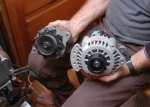 Old vs. new alternator